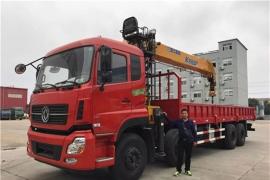 赣州李总订购东风天龙16吨徐工随车吊