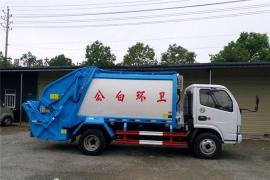 广东河源石总订购的东风5方压缩垃圾车已发车